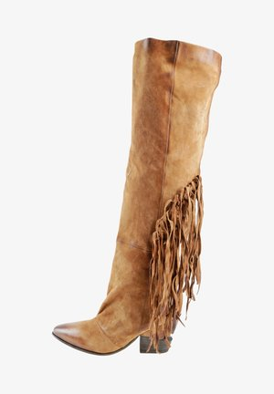 Over-the-knee boots - calvados