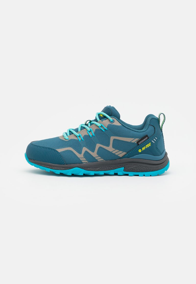 Hi-Tec - STINGER WP WOMENS - Hiking shoes - lake blue/light sapphire/yellow/silver