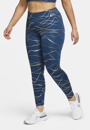 Leggings - valerian blue/metallic gold