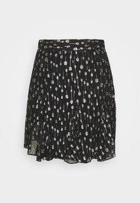 The Kooples - JUPE - Mini skirt - black/silver - 0