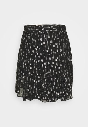 JUPE - Mini skirt - black/silver
