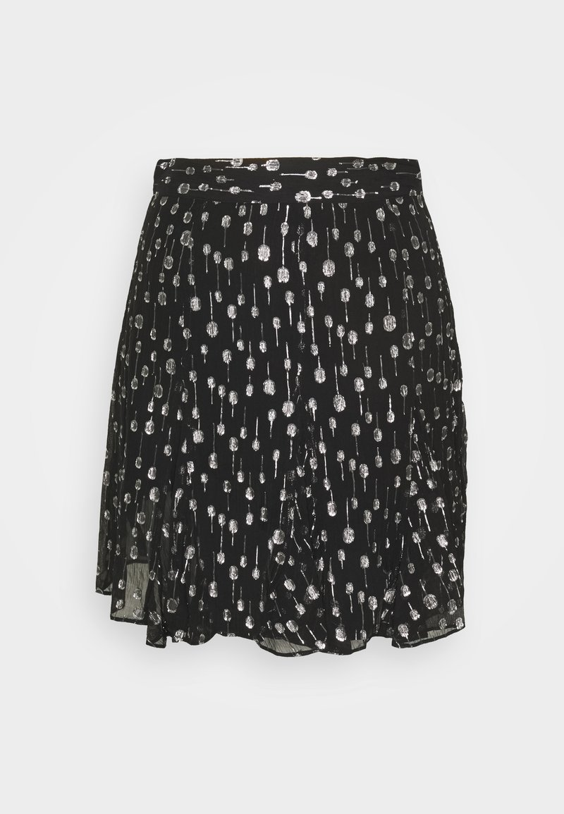 The Kooples - JUPE - Mini skirt - black/silver