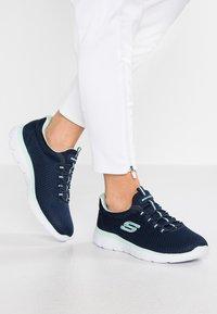 Skechers Wide Fit - SUMMITS - Trainers - navy/aqua - 0