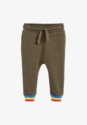 RAINBOW CUFF - Tracksuit bottoms - green