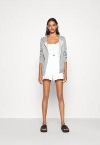 Even&Odd - Regular Fit Zip Sweat Jacket Contrast Cord - Hettejakke - mottled light grey - 1