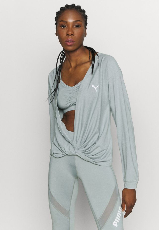 PAMELA REIF X PUMA COLLECTION OVERLAY CREW - Long sleeved top - quarry
