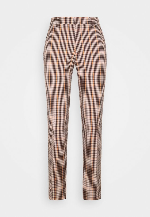 TAILORED SLIM FIT - Trousers - brown