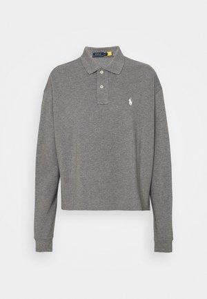 LONG SLEEVE - Polo shirt - boulder grey heather