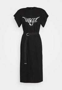 D-FLIX-C DRESS - Vestito di maglina - black