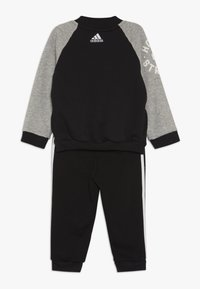 adidas Performance - COLLEGIATE TRACKSUIT BABY SET - Survêtement - black/medium greyh/white - 1