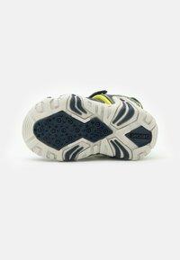 Geox - KRAZE - Walking sandals - navy/lime - 4
