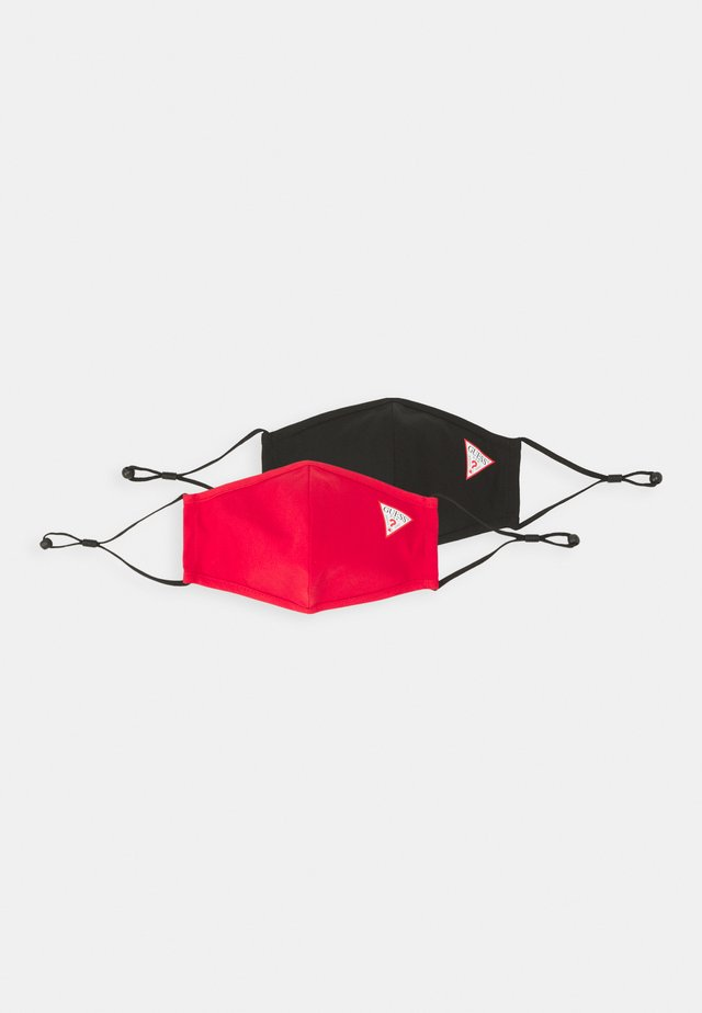 FACEMASK 2 PACK UNISEX - Mascarilla de tela - jet black/red