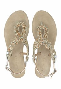 Belmondo - ZEHENTRENNER - T-bar sandals - silver-coloured - 2