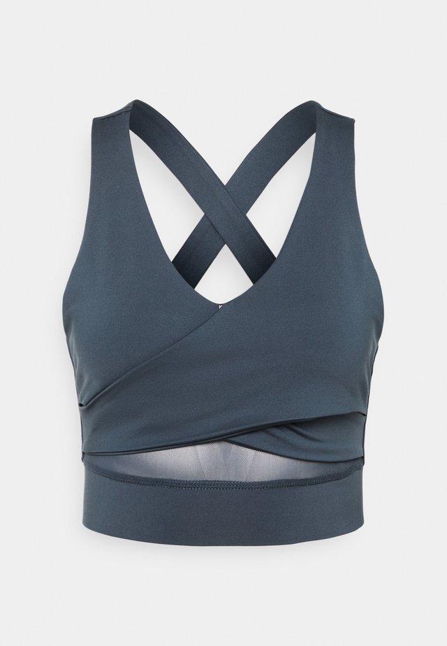 WRAP CROP - Sports bra - ombre blue