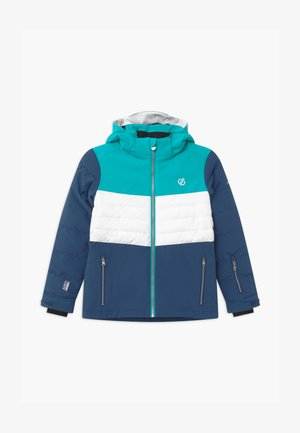 FREEZE UP UNISEX - Kurtka snowboardowa - light blue/white/dark blue
