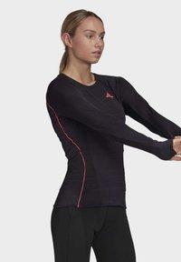 adidas Performance - RUNNER LONG-SLEEVE TOP - Long sleeved top - black - 3