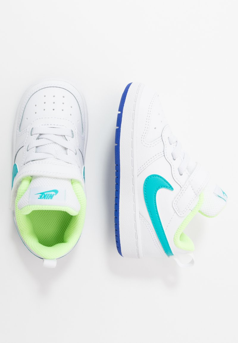 Nike Sportswear - COURT BOROUGH 2 - Sneakers basse - white/oracle aqua/hyper blue/ghost green