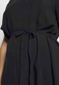 ONLY Carmakoma - CARTUKZU CALF SHIRT DRESS - Shirt dress - black - 5