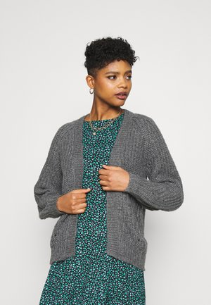 VISUBA OPEN - Cardigan - medium grey melange