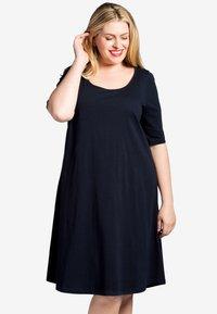 Yoek - Day dress - dark blue - 0