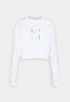 SHINE LOGO CREW NECK - Collegepaita - bright white