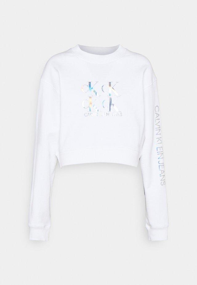 SHINE LOGO CREW NECK - Mikina - bright white