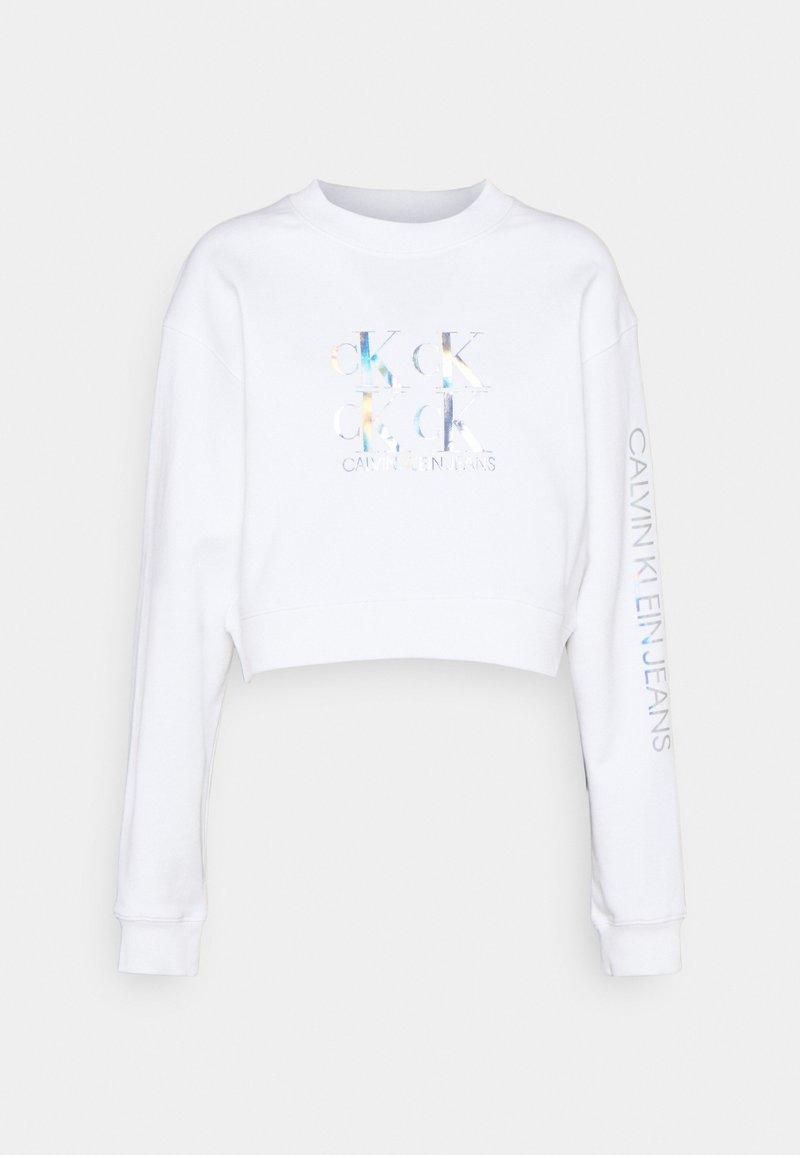 Calvin Klein Jeans - SHINE LOGO CREW NECK - Sweatshirt - bright white