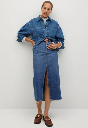 DENIM70 - Button-down blouse - tmavě modrá