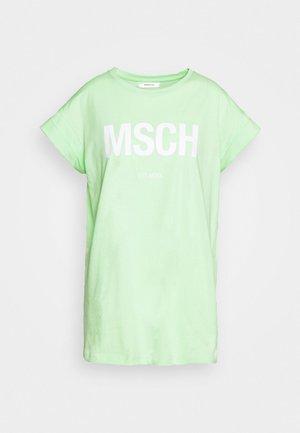 ALVA TEE - T-shirts med print - green/white