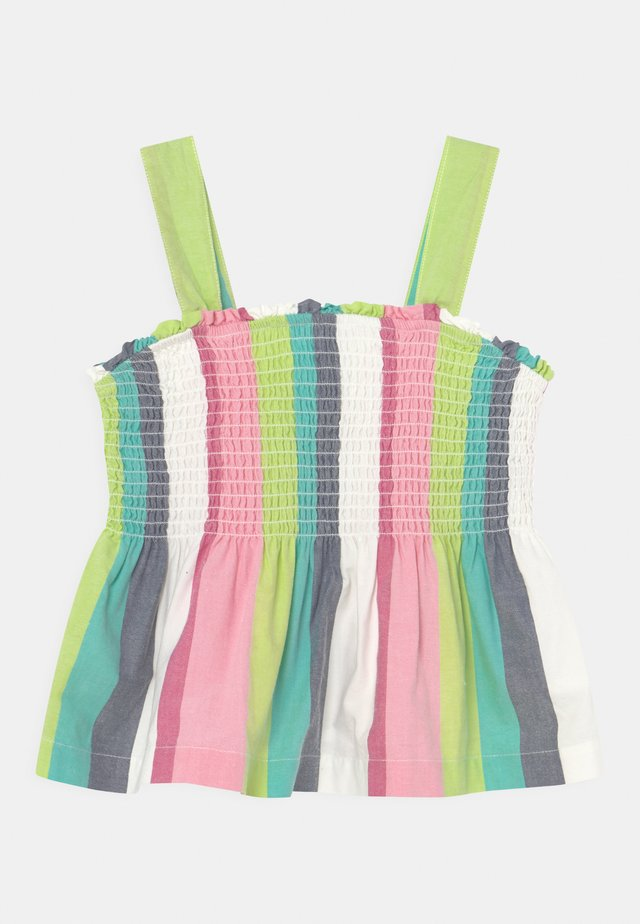 GIRL STRIPE SMOCKED - Top - multi-coloured