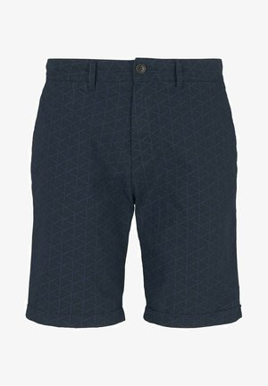 Shorts - navy big triangle print