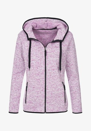 Fleece jacket - purple melange