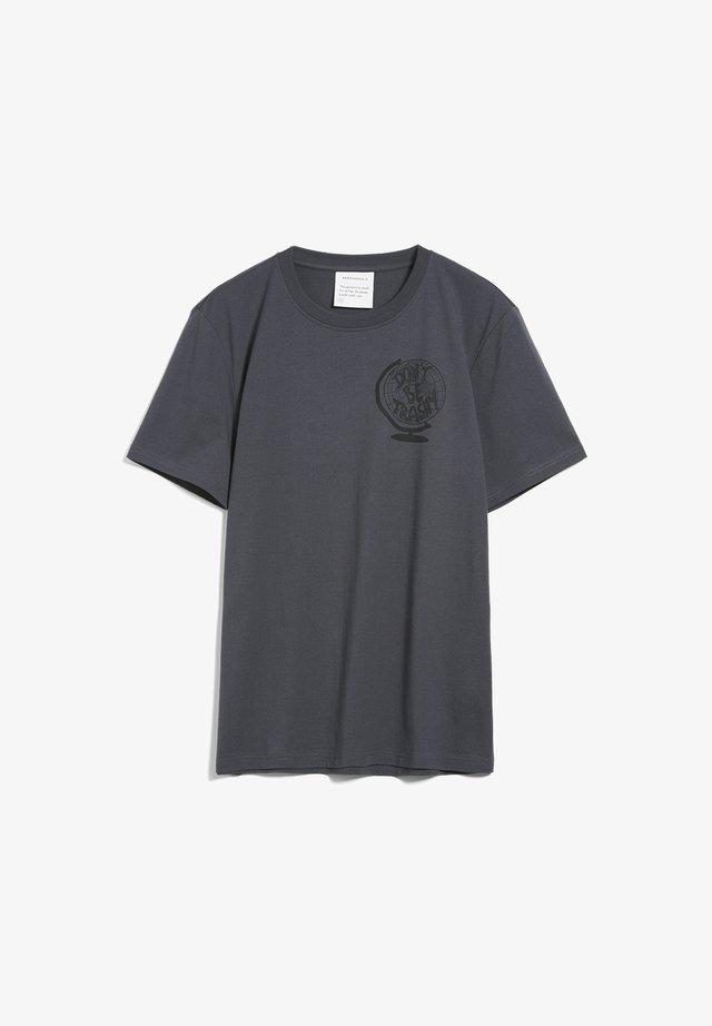 AADO DON'T BE TRASHY - Print T-shirt - acid black