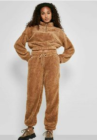 Noisy May - HOSE TEDDY - Tracksuit bottoms - tigers eye - 1