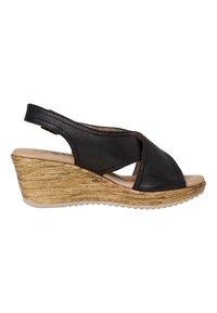 Jana - Wedge sandals - black - 4