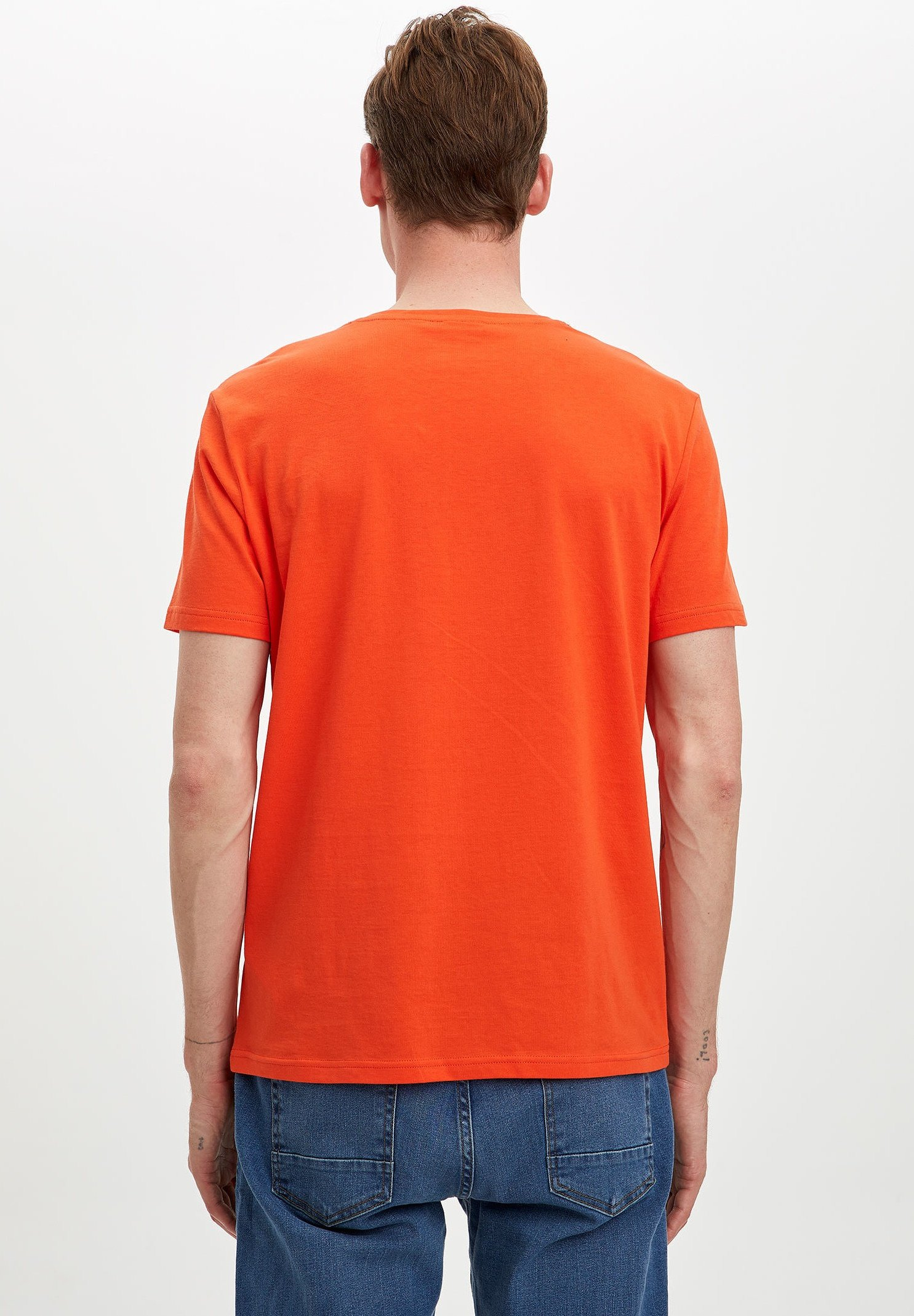 DeFacto Print T-shirt - orange TZsEG