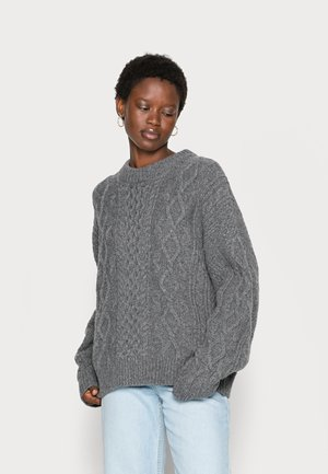 BOUND SWEATER - Stickad tröja - grey melange