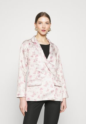 FLORAL JACKET - Blazer - cream