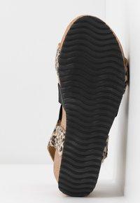 Copenhagen Shoes - STACIA LEOPARD - Sandalias con plataforma - brown - 6