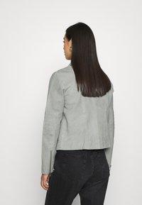 YAS - YASMOUSSE JACKET - Leather jacket - shadow - 2