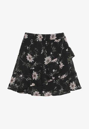 BRIT - Áčková sukně - black