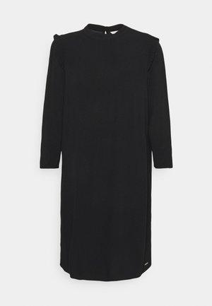 PRINTED MINI DRESS - Denní šaty - deep black