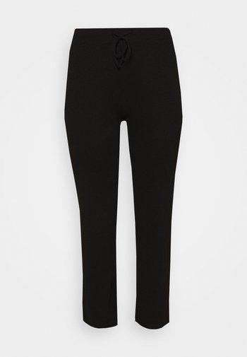 WIDE PANT LOUNGE CURVE - Tracksuit bottoms - black