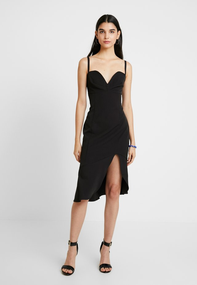 CARMINE MIDI DRESS - Cocktailkjoler / festkjoler - black