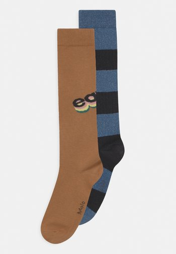 NORVINA 2 PACK UNISEX - Knee high socks - brown