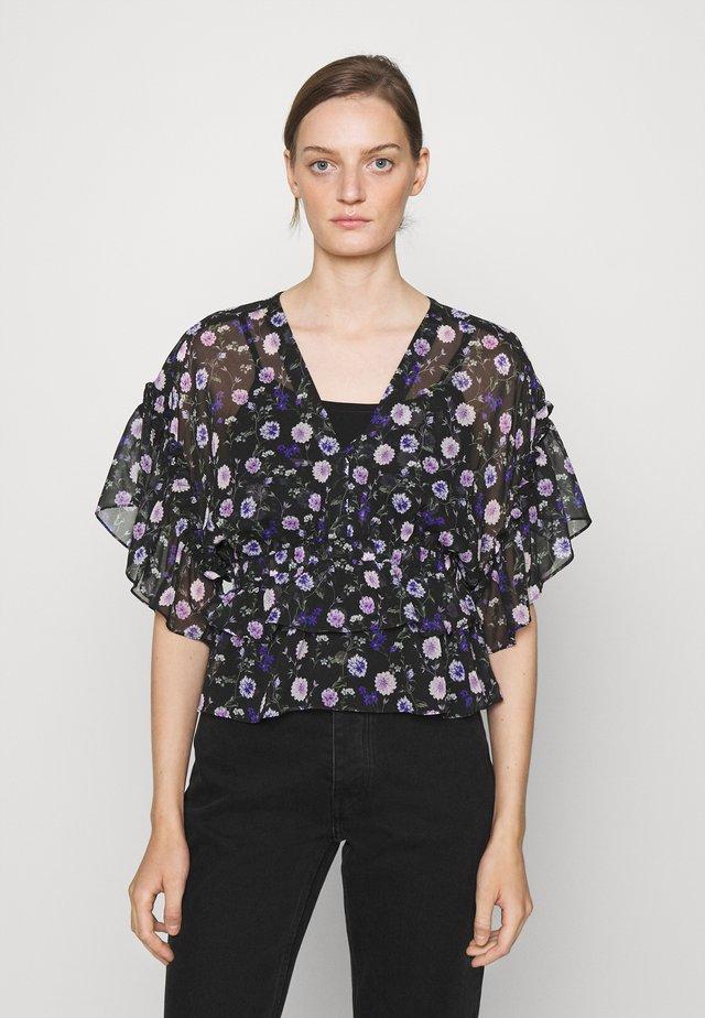 TOP - Camicetta - black/purple