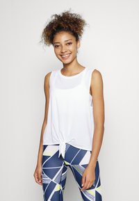 GAP - TIE FRONT MUSCLE TANK - Topper - optic white - 0