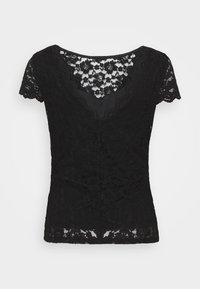 Vila - VIKALILA CAPSLEEVE - Print T-shirt - black - 1