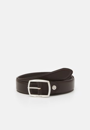 BELT ROUNDED SQUARE BUCKLE - Pasek - dark brown