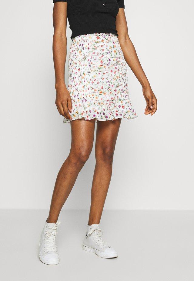 GINA SKIRT - Mini skirt - white